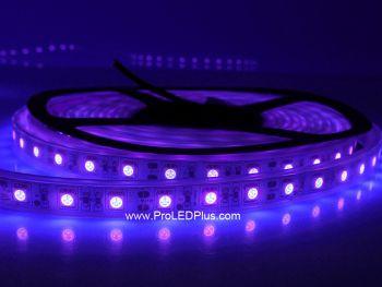 390-395nm Ultraviolet 5050 LED strip BlackLight Strip, 60/m, 5m