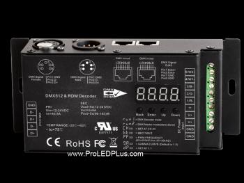 5CH DMX/RDM LED Decoder, 5X8A, 30KHZ, 16 BIT