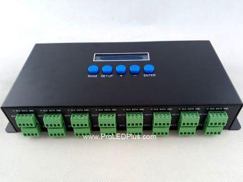 Artnet-SPI DMX Pixel Controller, 16CH, 5440 pixels, 5-24V