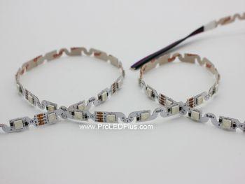 Bendable S-Shape RGB 5050 LED Strip, 48/m, 12VDC, 5m