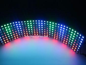 Flexible 8x32 Digital RGB LED Matrix