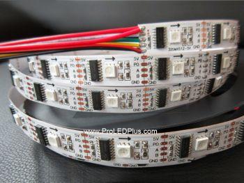 Pixel-by-Pixel Control DMX RGB LED Strip,  32/m, 5V, 5m
