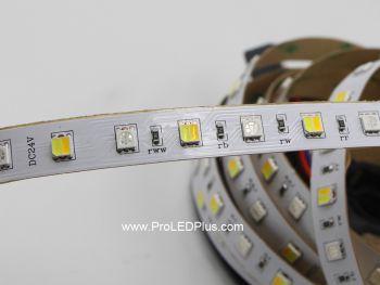 RGB+Tunable White LED Strip, 72/m, 24V, 5m