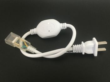 SMD5050 120V White LED Strip Power Plug Connector