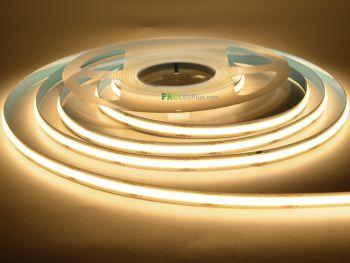 Spot Free Uniform Glow COB Bendable LED Strip Light, CRI 90, 24VDC, 5m