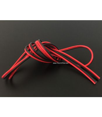20 AWG Red & Black Power Hookup Wire, Per meter