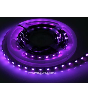 380-385nm Ultraviolet 5050 LED strip BlackLight Strip, 60/m, 5m