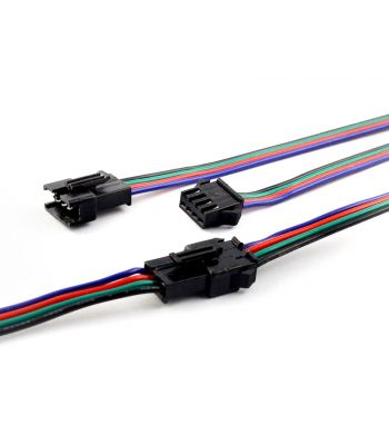 4-pin JST-SM Pigtail Connectors,20AWG Wire Leads