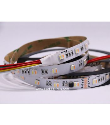 5-in-1 RGB+Tunable White 5050 LED Strip, 60/m, 24V, 5m