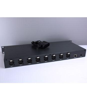 8 Ports Artnet-DMX converter, 8×512 channels, 5-24VDC