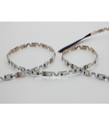 Bendable S-Shape RGB 5050 LED Strip, 48/m, 12VDC, 5m