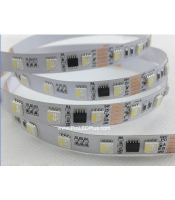 DMX 4 in 1 RGBW LED Strip, 60/m, 24V, 5m
