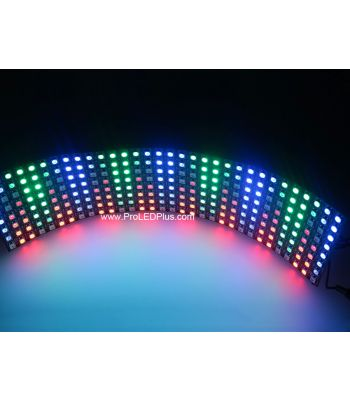 Flexible 8x32 Digital RGB LED Matrix