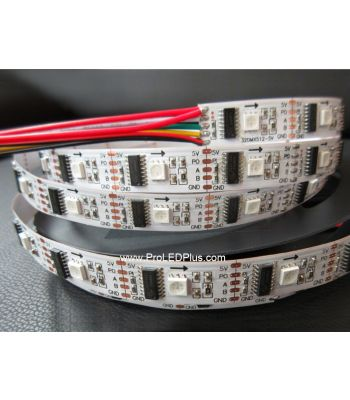 Pixel-by-Pixel Control DMX RGB LED Strip,  32/m, 5V, 5m